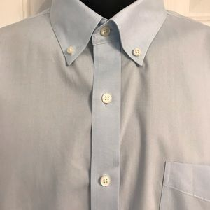 Lands' End Tailored Oxford Dress Shirt 17.5 x 37